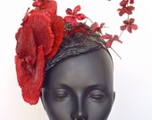 Small Red Fungus Headdress Headpiece