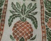 Vintage Pineapple Linen Kitchen Towel Vintage Dish Towel Pineapple