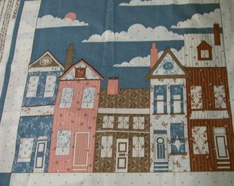 Victorian Houses  Pillow PATTERN Vintage Wamsutta Pattern