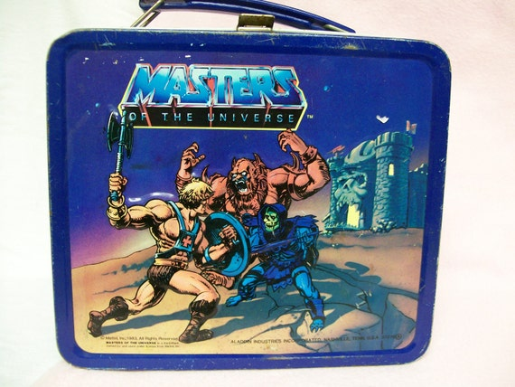 He Man Masters of the Universe Vintage Lunch Box