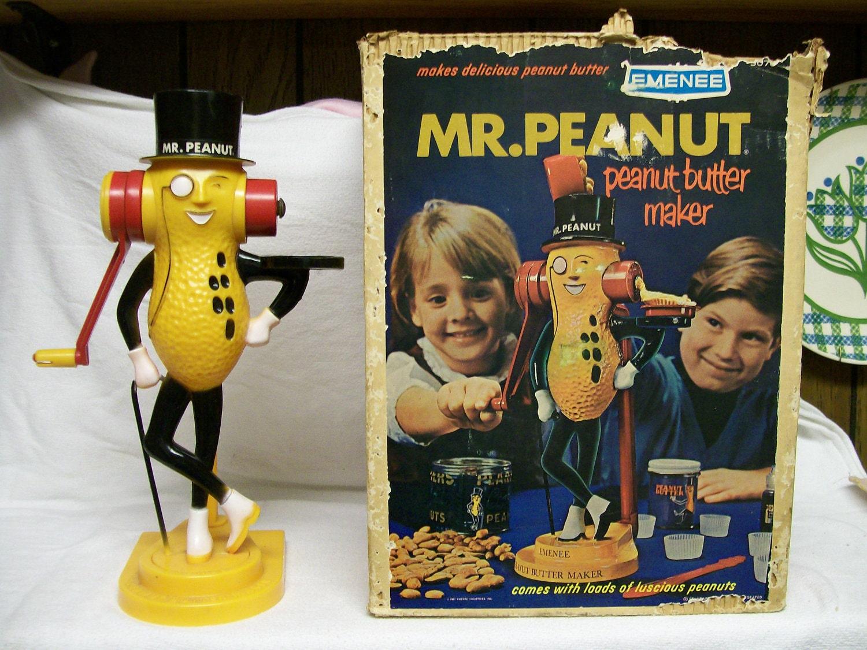 Vintage Mr Peanut Peanut Butter Maker By Emenee Circa 1967