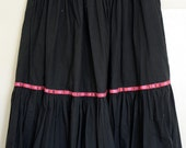SALE Vintage Banana Republic 50s Style Black Gathered Skirt