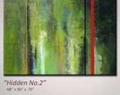Abstract Art, Abstract Painting, Green - Original Art - To be re-created -  XLarge 48 x 36 - Shipping included within Continental US