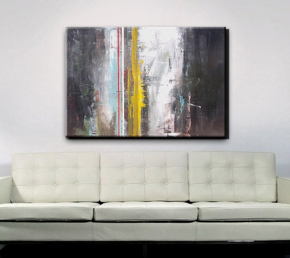 Abstract Art Abstract Painting Gray Grey By Redmoonstudioart