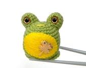 Amigurumi crochet toy doll - Lucky frog MochiQtie - Mochi size crochet Amigurumi