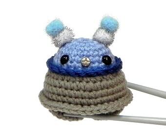 Amigurumi Blue Chubby Robot MochiQtie - Crochet Amigurumi mini stuff toy doll