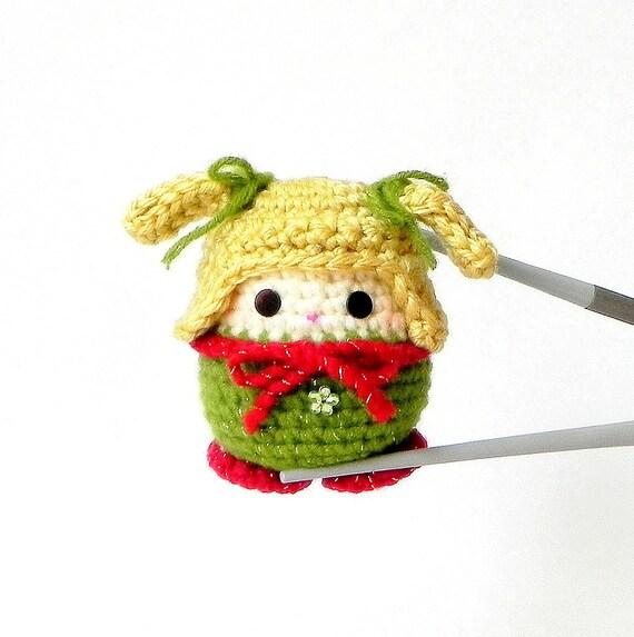 Amigurumi kokeshi MochiQtie Mido Mochi size crochet