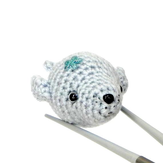 Crochet Amigurumi Seal : Amigurumi Baby seal MochiQtie Mochi size crochet Amigurumi