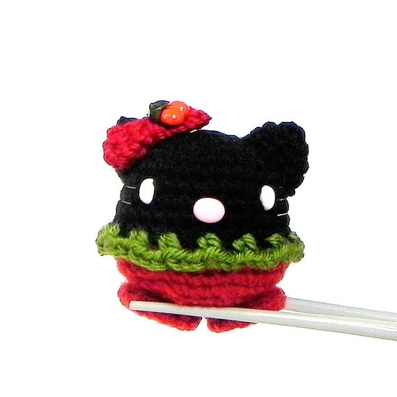 Amigurumi Cherry kitty MochiQtie Mini Crochet amigurumi