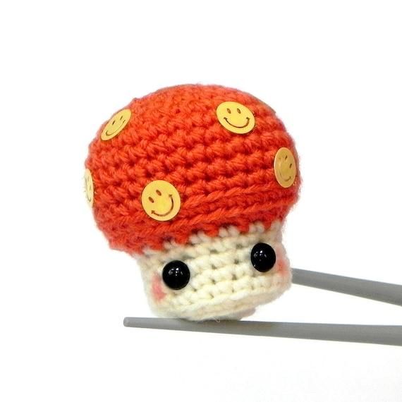Amigurumi Etsy : Items similar to Amigurumi - Happy Mushroom MochiQtie ...