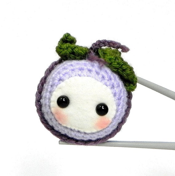 Amigurumi - Grape Baby MochiQtie - Crochet Amigurumi mochi size mini toy doll