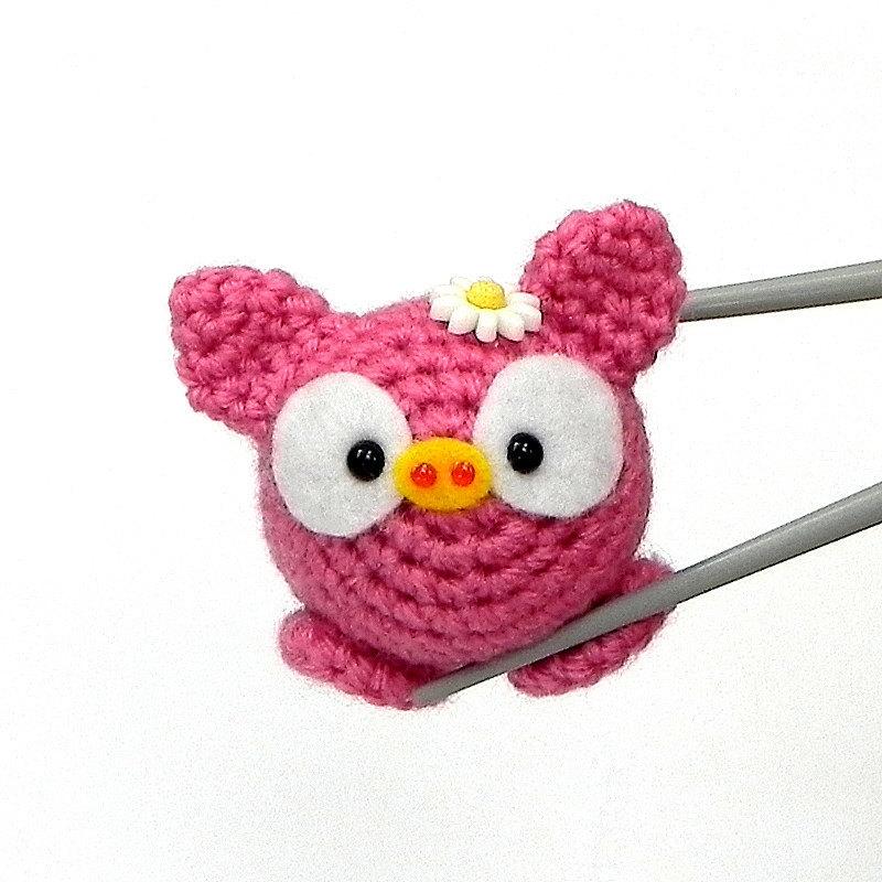 Amigurumi Pinky Piggy MochiQtie crochet mochi size mini toy