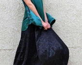 Long Skirt - Black Rose