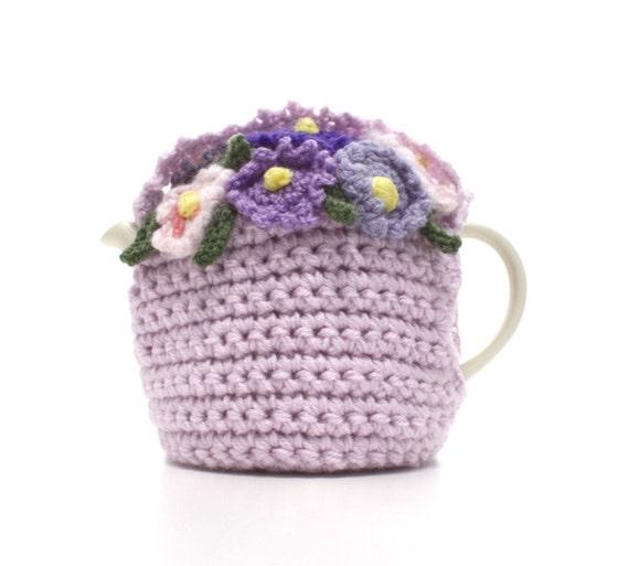 Lilac Lavender and Light Purples Flower Basket Tea Cosie