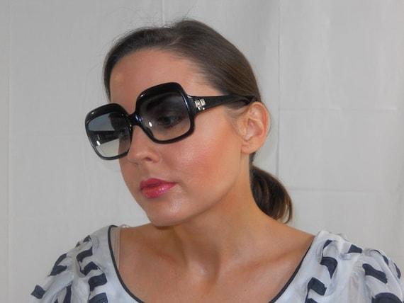 Vintage Big Black Givenchy Sunglasses 60's, 70's