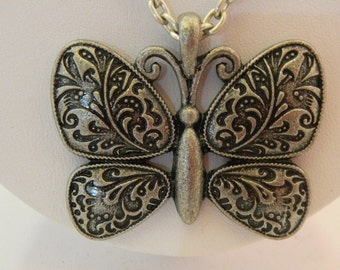 484 -Silver butterfly with Ceramic Beads