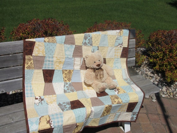 Topsy-Turvy Baby Boy or Lap Quilt