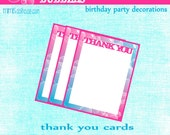 Bubbles Candy Thank you cards- Bubbles Birthday Thank you cards-PDF