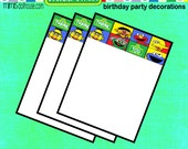 Sesame Street Thank you cards- Sesame Street Birthday Thank you cards-PDF