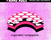 Minnie Mouse Birthday Cupcake Wrappers- Minnie Mouse Party Cupcake Wrappers PDF