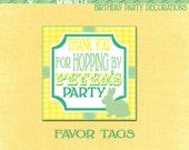Bunny Favor Tags- Printable Bunny Thank you Tags-PDF