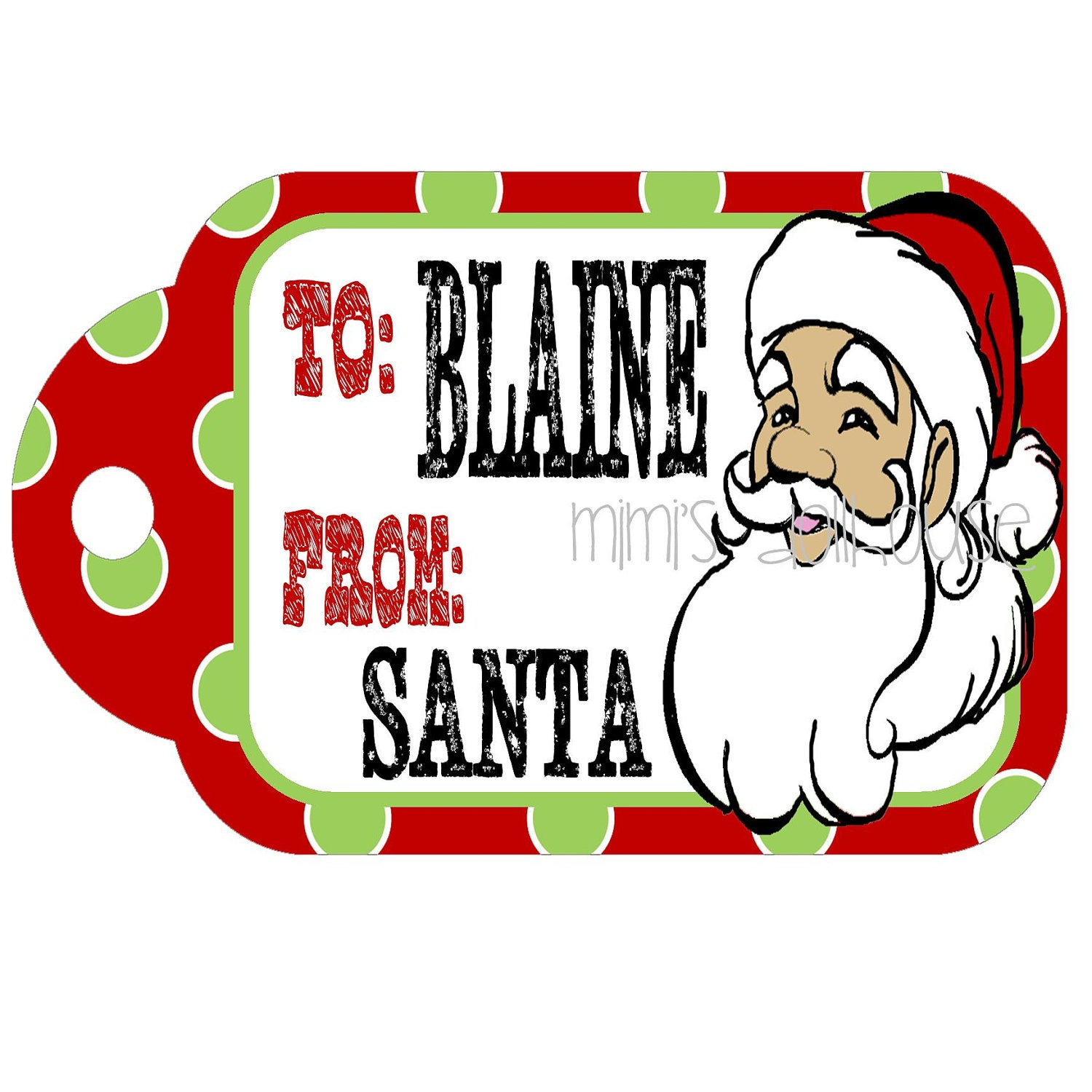 Items similar to Christmas Gift Tags- FROM SANTA Printable PDF tag on ...