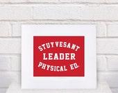 Stuyvesant Physical Ed. Leader - Beastie Boys Red Shirt Print  - 11x14