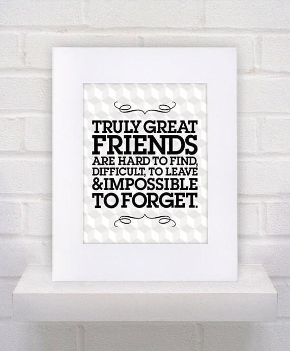 MC Escher Inspired -- TRUE FRIENDS - 11x14 Custom Art Print - Black and White