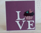 Anniversary Greeting Cards Handmade Cupcake Love