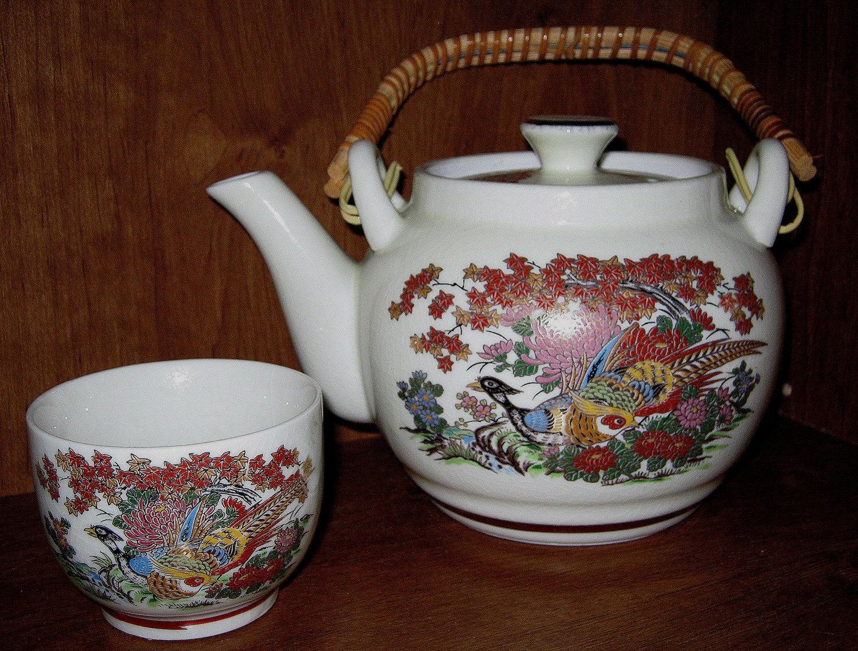 Antique Japan Porcelain Tea Pot And Cup