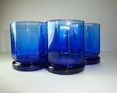 ON RESERVE- Drinking Glasses Cobalt  Blue Set of 4 - Barware - K71