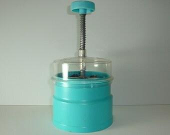 Hand Chopper - Popeil Chop-O-Matic Hand Chopper Aqua  Turquoise