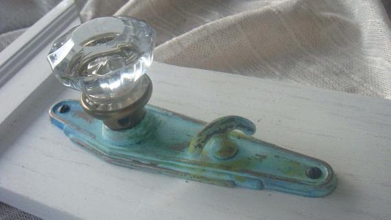 Weathered Copper Vintage Crystal Door Knob