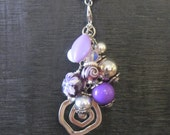 "Interchangeable Necklace Charm, Cluster. ""Purple Rain"""