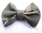 Girl Military Hair Bow, Available in Any Military Branch Fabric