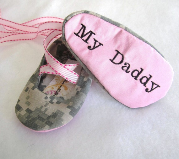 """Pink I """"Heart"""" My Daddy shoes in any Military Branch"""