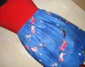Disney Peter Pan Mini Skirt  -  High Waisted Ladies Skirt - Handmade & Ready to ship