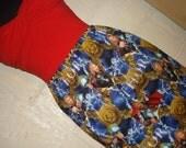 Thor Mini Skirt -  High Waisted Ladies Mini Skirt - Handmade & Ready to Ship