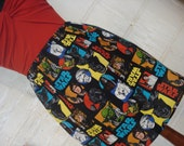 Bright Star Wars Mini Skirt -  High Waisted Ladies Mini Skirt - Handmade & Ready to Ship