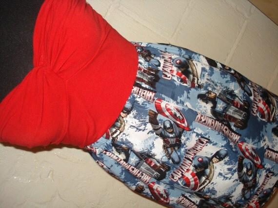 Captain America Mini Skirt -  Avengers High Waisted Ladies Mini Skirt - Handmade Ready to ship