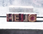 Vintage Letterpress - Hello