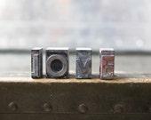 Vintage Letterpress - Love