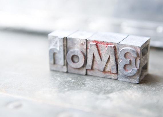 RESERVED  for Anna - Vintage Letterpress  Letters - Home