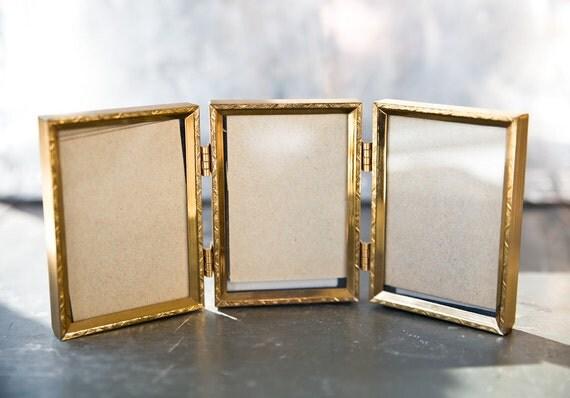 Vintage Brass Frames - Tri fold