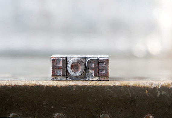 Vintage Letterpress  - Hope
