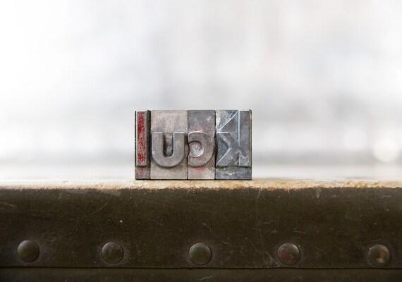Vintage Letterpress Letters - Luck