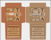 High Tea - Tea Bag Envelope, Printable Tea Bag Envelope - Printable PDF/JPEG, DIY, Print Yourself