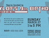 Set of 40 Personalized Birthday Invitation - Transformers