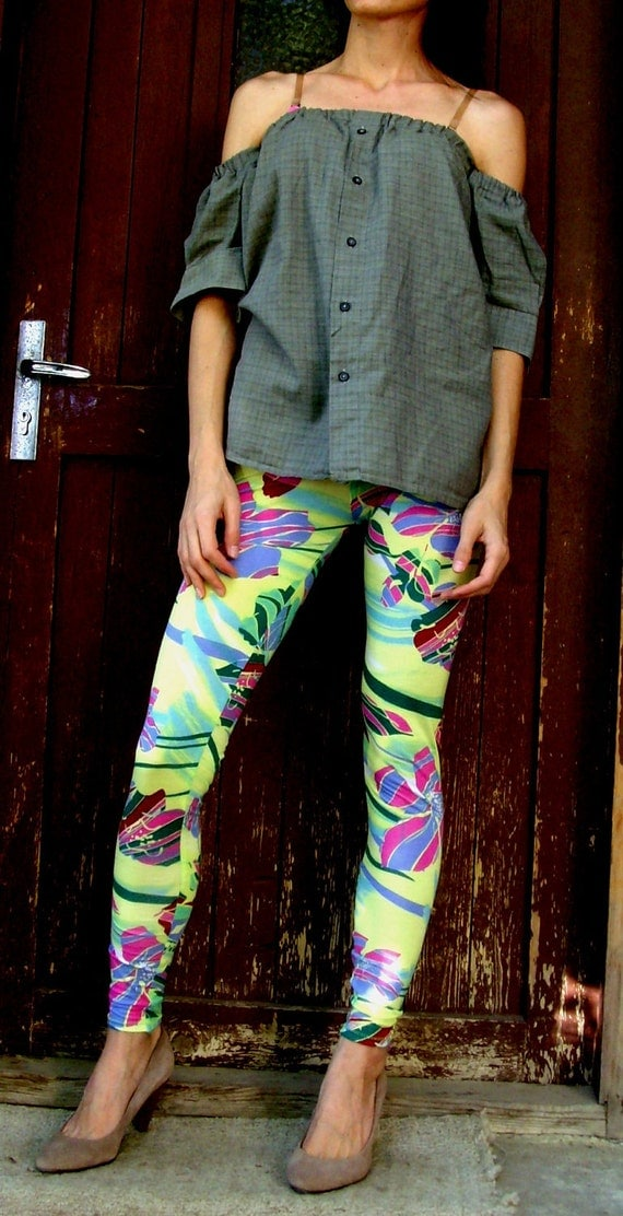 10% discount with coupon code cvetinka10 Low Waist Sexy Floral hot colors Yoga Leggings Fits SIZE XS/S
