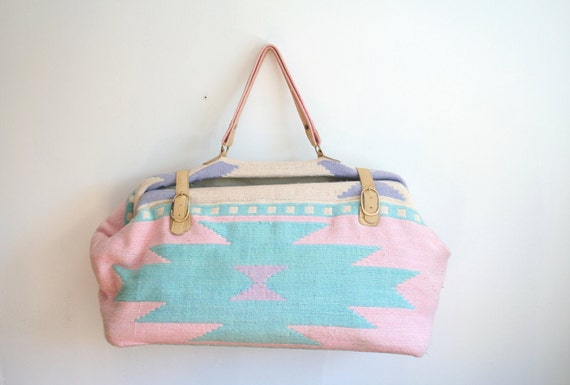 Vintage Southwestern Carpet Bag ON SALE